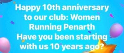 Women Running Penarth is 10 years old